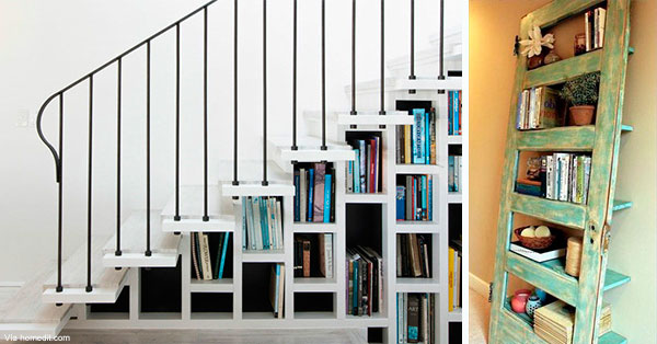 ideas originales para guardar libros en casa