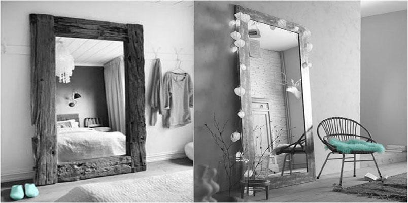 Decorando con espejos.