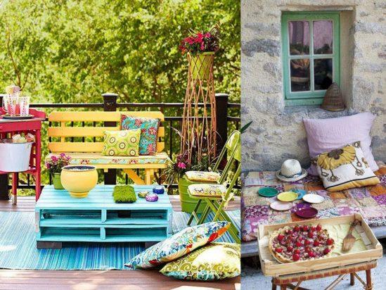 Cuida el medio ambiente, decorando con palets